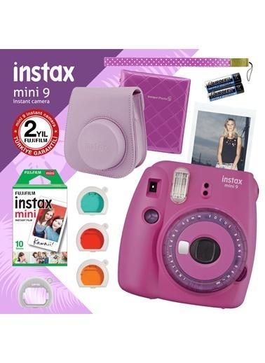 Fujifilm instax mini 9 Mor Fotograf Makinesi ve Hediye Seti 2 Renkli
